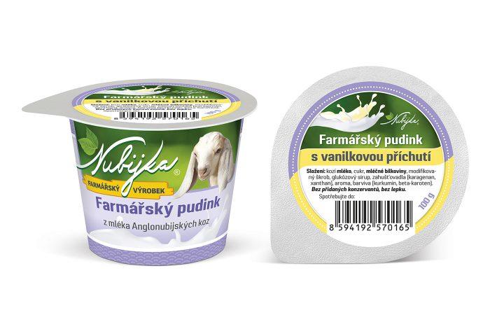 Farmářský pudink s  vanilkovou příchutí