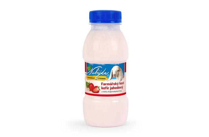 Farmářský kefír z kozího mléka – jahodový 250g
